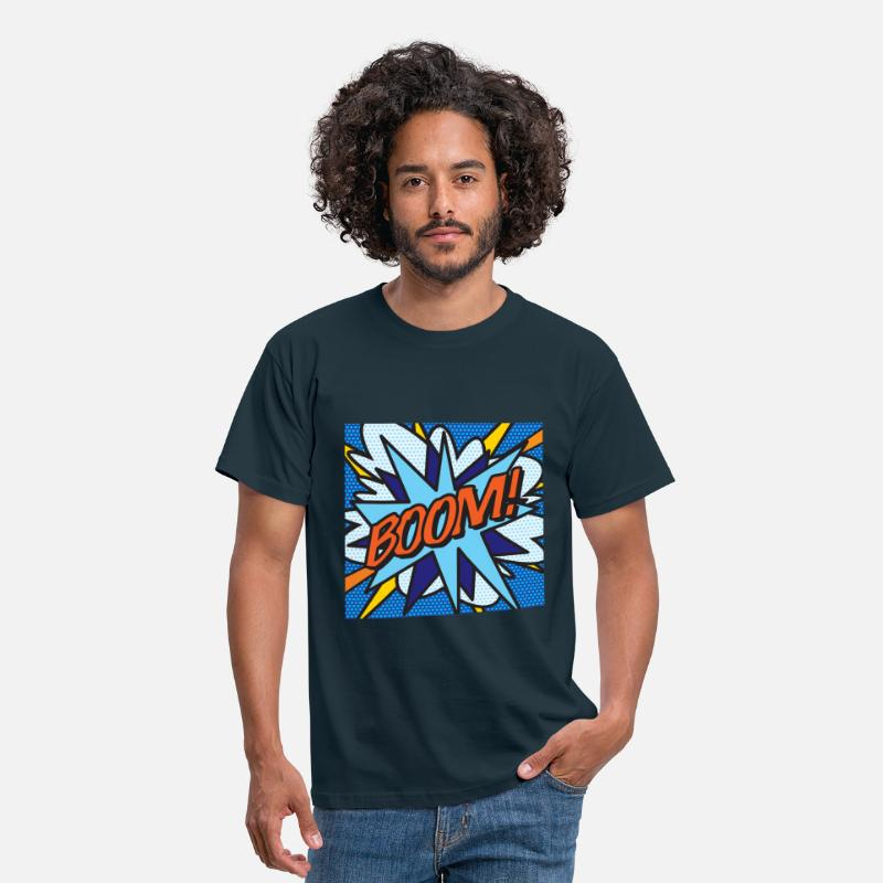 Art T-Shirts - Comic Book BOOM! - Men's T-Shirt navy