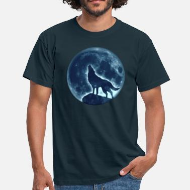 Howling Wolf Howling Wolf, full moon, wolves, native, Indians - Men's T-Shirt