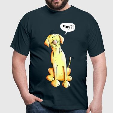Play Labrador - Retriever - Lab - Cartoon - Gift - Men's T-Shirt