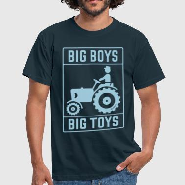 Big Boys – Big Toys (Tractor / Traction Engine) - Men's T-Shirt