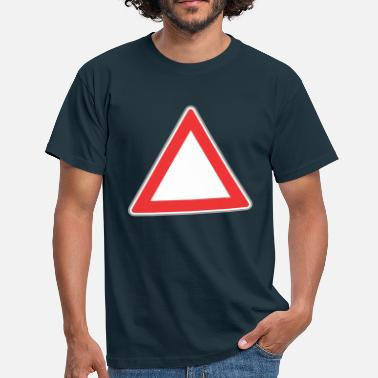 Triangle Sign Road Sign Up triangle - Men's T-Shirt