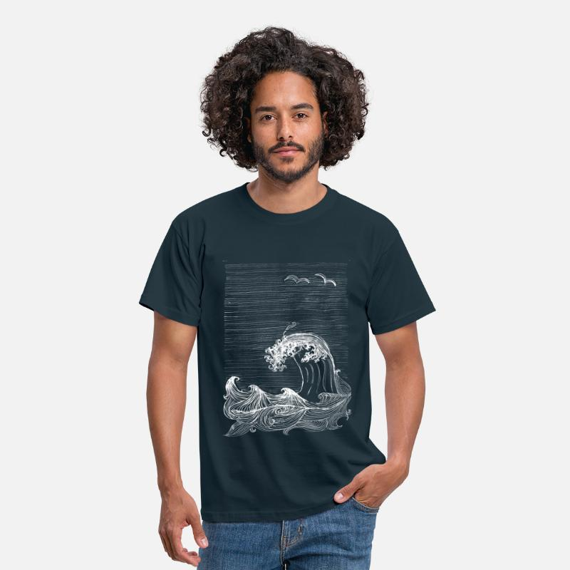 Nature Collection T-Shirts - fabutastique atlantique - Men's T-Shirt navy