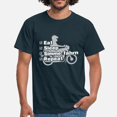 S51 Simson S51 - Eat, sleep, Simme fahrn, repeat - Männer T-Shirt