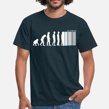 Codes Barres DARWIN - EVOLUTION SOCIETE - CODE BARRE - T-shirt Homme