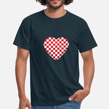 Croatian From Croatia with Love - Croatian heart black - Men's T-Shirt