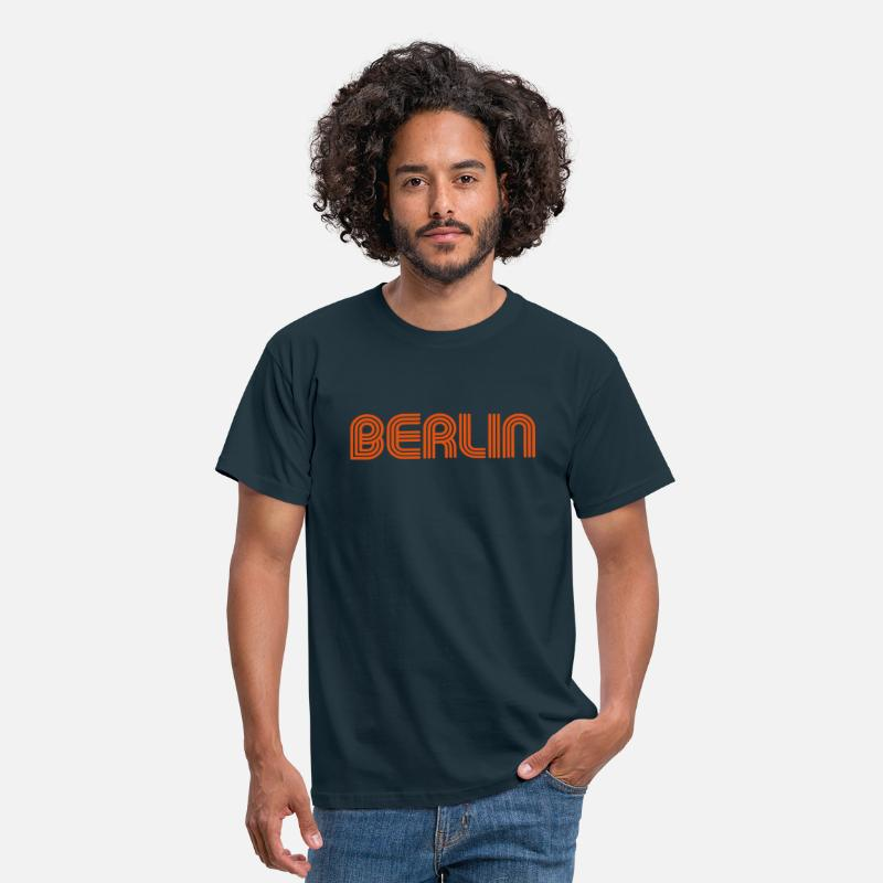 70s T-Shirts - Berlin 70 Font Lounge - Men's T-Shirt navy