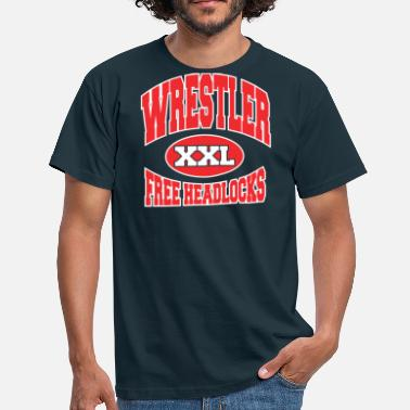 Wwc Wrestler Funny Free Headlocks - Men's T-Shirt