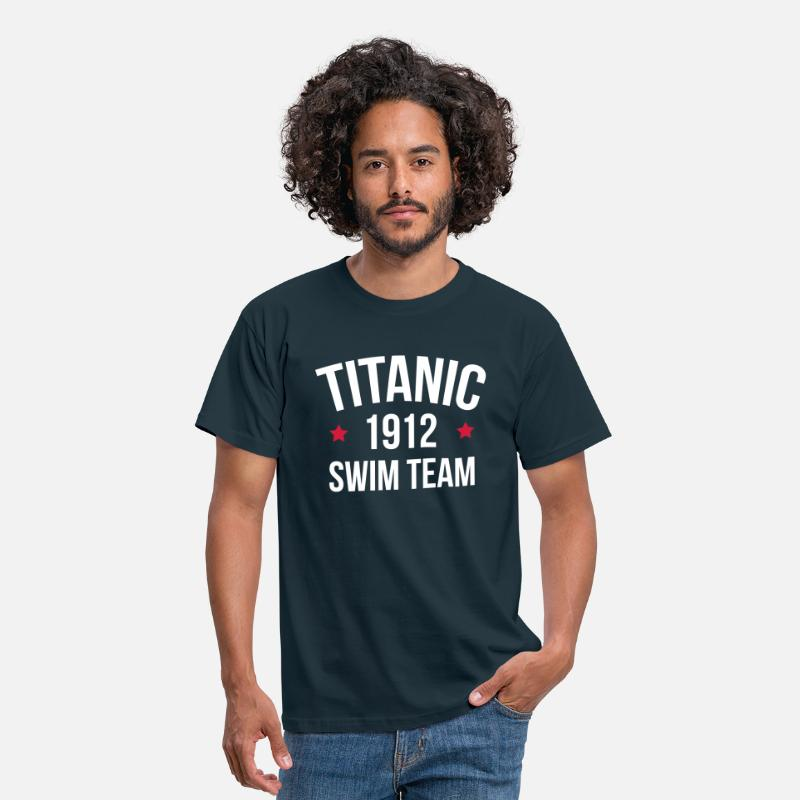 Swim T-Shirts - Titanic Swim Team  - Mannen T-shirt navy