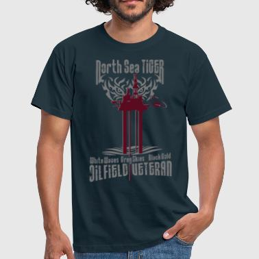 Oil Rig Oil Field Veteran - Men's T-Shirt
