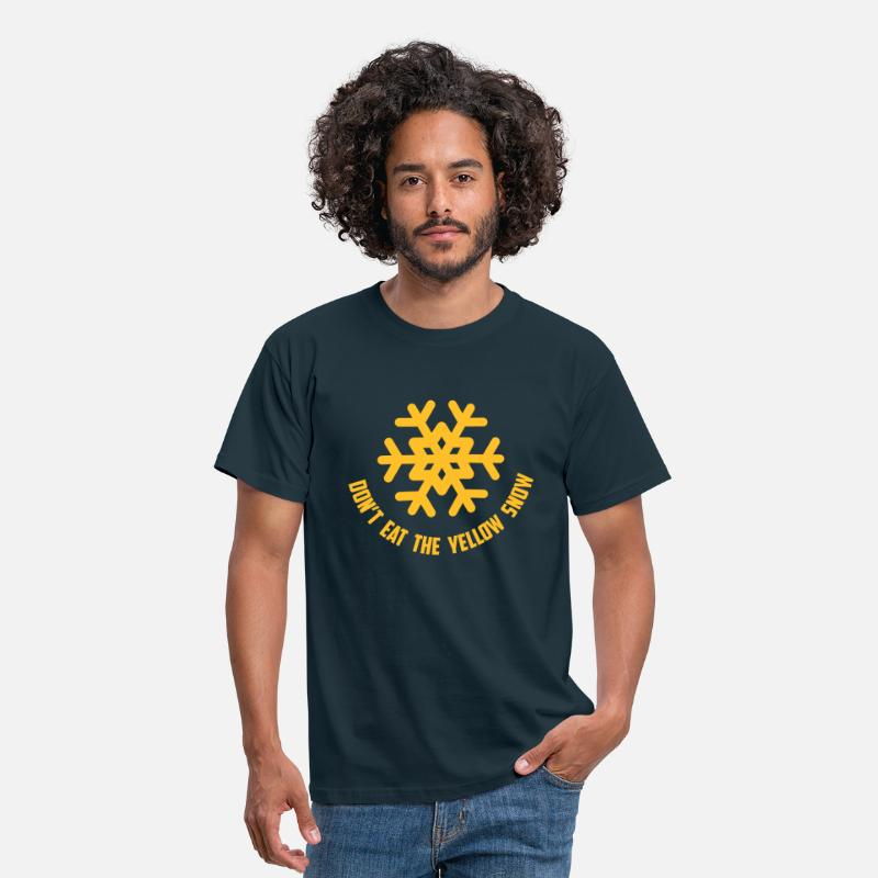 Ski T-Shirts - don't eat the yellow snow - Mannen T-shirt navy