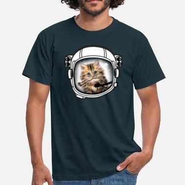 Cat Helmet cat helmet cosmonaut astronaut universe fun cool - Men's T-Shirt