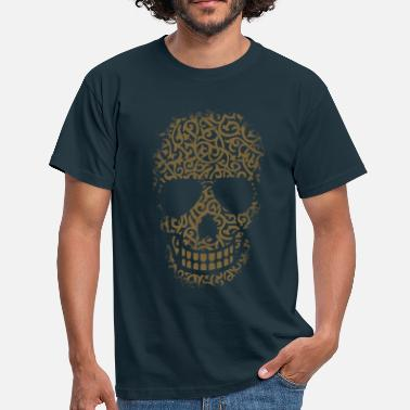 Gold Skull Gold ornament skull - Men's T-Shirt