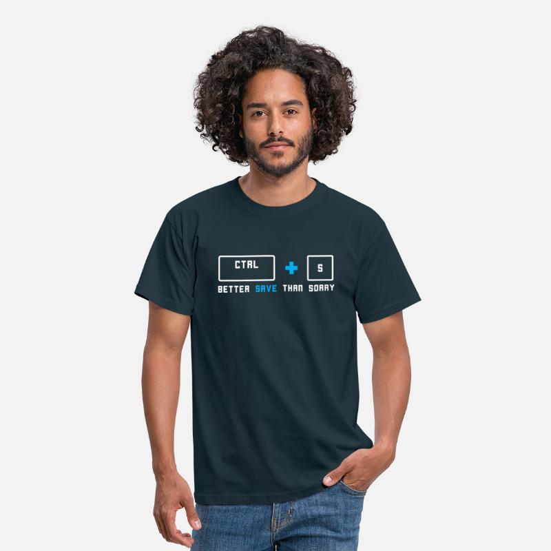 Developer T-Shirts - Ctrl + S - Men's T-Shirt navy