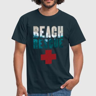 Strand Rettung Bach rescue Bitch Rescue Surf - Männer T-Shirt