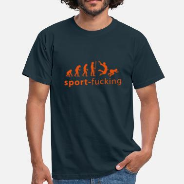 Fick Fight evolution_sport_fucking - Männer T-Shirt