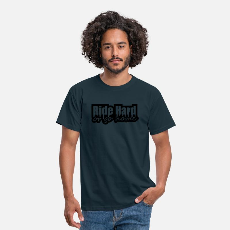 Paseo Camisetas - Ride Hard Or Go Home - Camiseta hombre azul marino