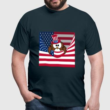 4th july owl  - T-shirt Homme