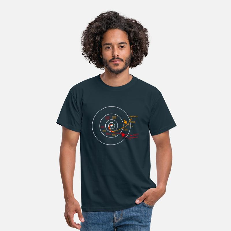 Space T-Shirts - Voyager 1 T Shirt - Men's T-Shirt navy