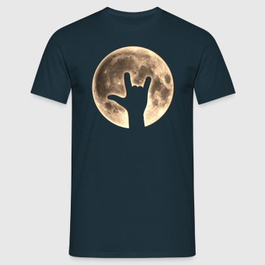 Rock Moon, Hand, Party, Music, Earth Day, Yeah - Herre-T-shirt