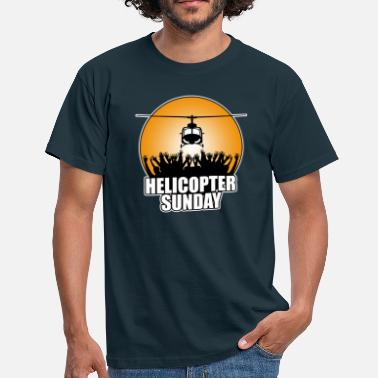 Red Helicopter helicopter_sunday - Men's T-Shirt