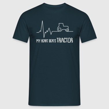 my heart beats tractor - Männer T-Shirt