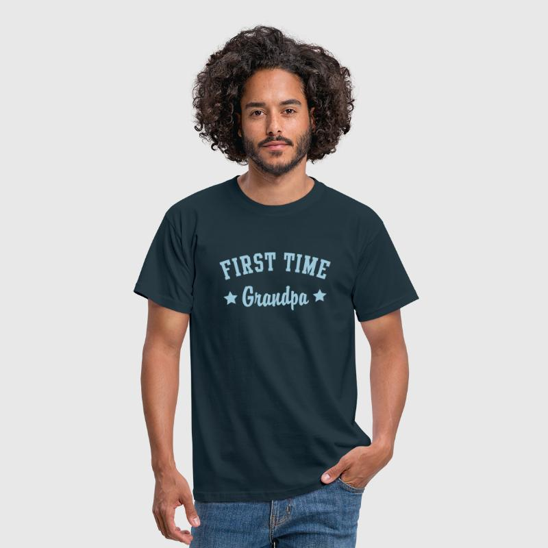 FIRST TIME Grandpa - Men's T-Shirt