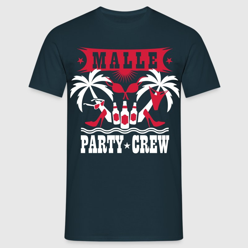 15 Malle Party Crew Drinking Team Sex Beer Bier - Männer T-Shirt