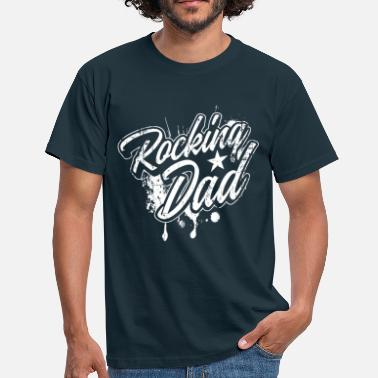 Rocker Rocking Dad Gift för Father Rock Music - T-shirt herr