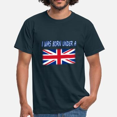 Glasgow Rangers i was born under a union flag - Men's T-Shirt