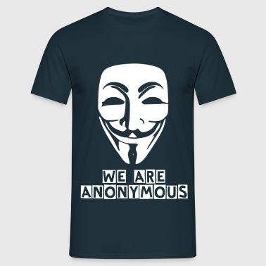 anonymous white mask - Men's T-Shirt