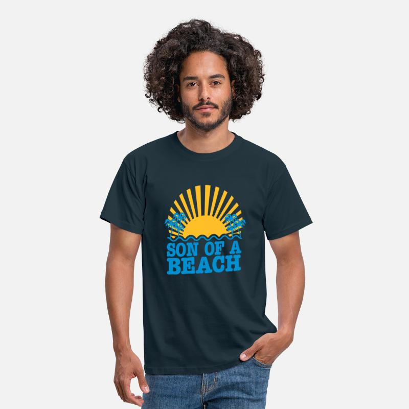 Son Of A Beach T-Shirts - son of a beach - Men's T-Shirt navy
