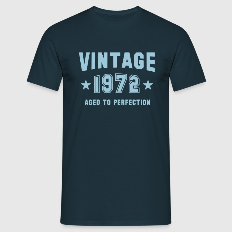 VINTAGE 1972 - Aged To Perfection - Herre-T-shirt