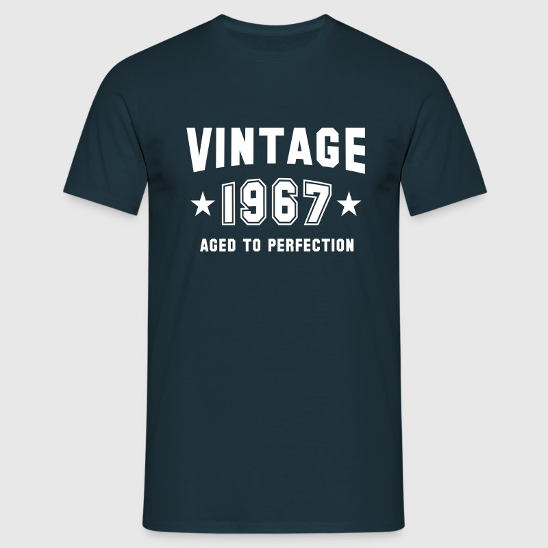 VINTAGE 1967 - Birthday - Aged To Perfection - Männer T-Shirt
