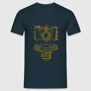 camera yellow technical - Men's T-Shirt