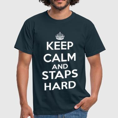 staps-keep-calm-blanc - T-shirt Homme