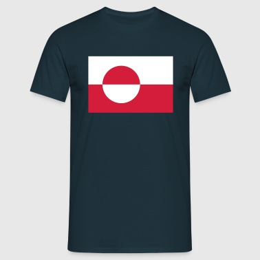 Flagge Grönland; Greenland - Men's T-Shirt