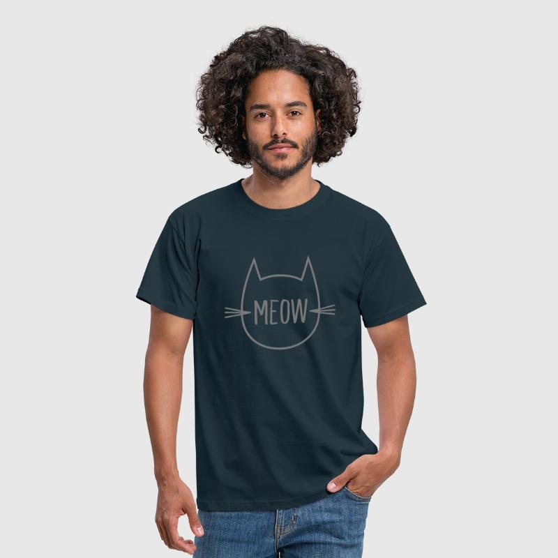 Meow (Cat Outline) - Men's T-Shirt