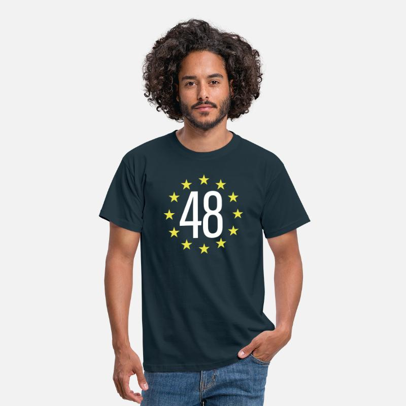 Brexit T-Shirts - WE ARE THE 48% - Men's T-Shirt navy