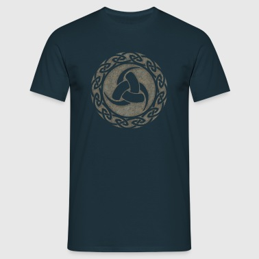 Triple Horn of Odin, Celtic Knot, Odin Symbol - Mannen T-shirt