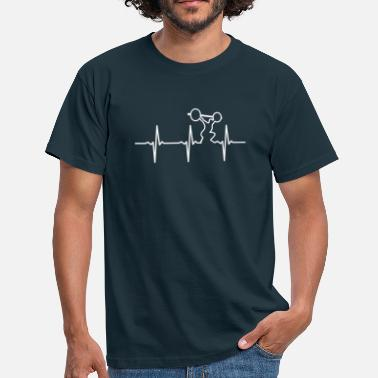 Funny Gym Heartbeat Gym - Mannen T-shirt