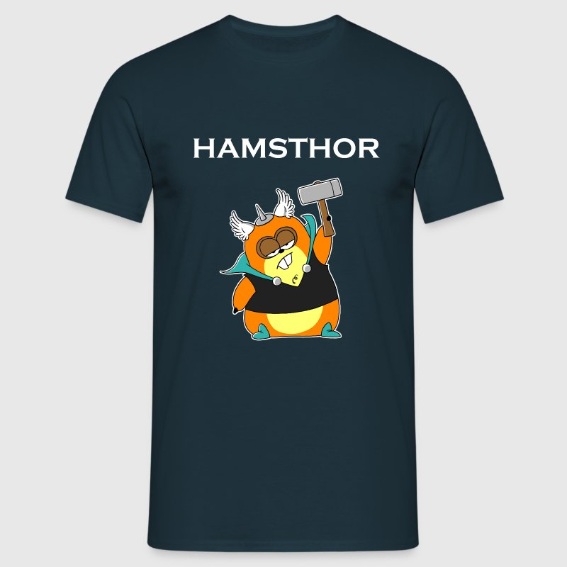 Hamsthor (whiteline) - Männer T-Shirt