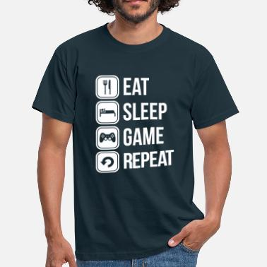 Eat Sleep Repeat eat sleep game repeat - Koszulka męska
