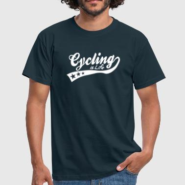 cycing is life - retro - Men's T-Shirt