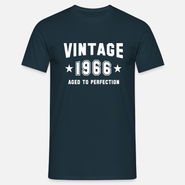 Vintage 1966 VINTAGE 1966 - Birthday - Aged To Perfection - Men's T-Shirt