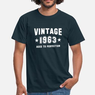 Mature VINTAGE 1963 - Birthday - Aged To Perfection - Men's T-Shirt