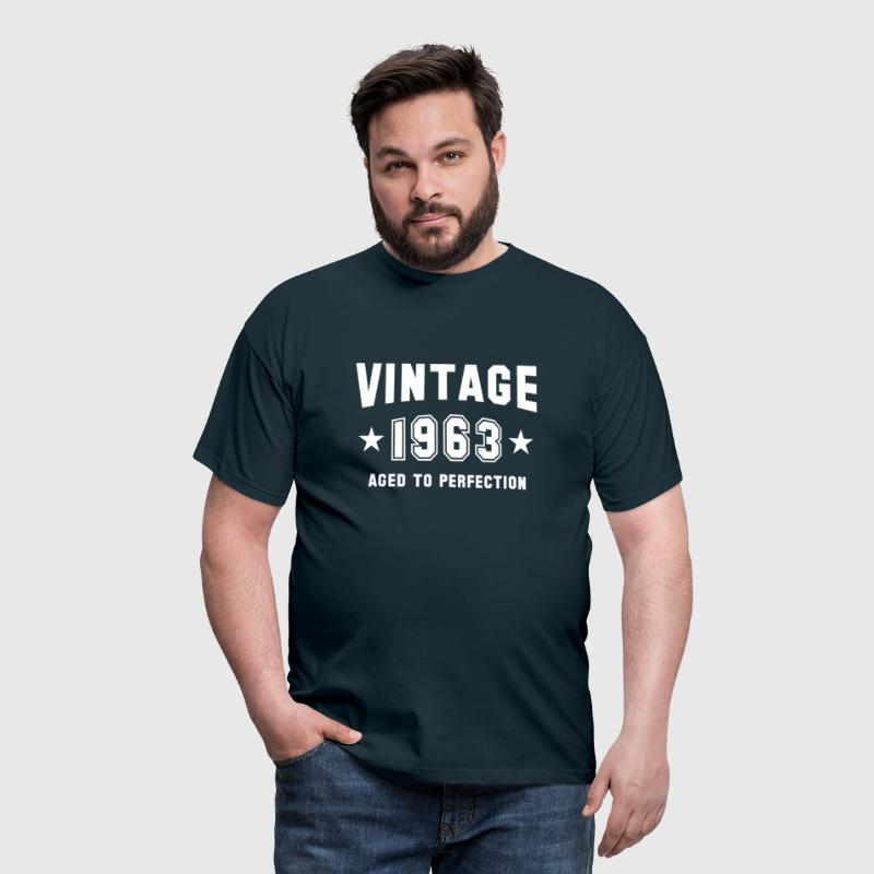 VINTAGE 1963 - Birthday - Aged To Perfection - Men's T-Shirt