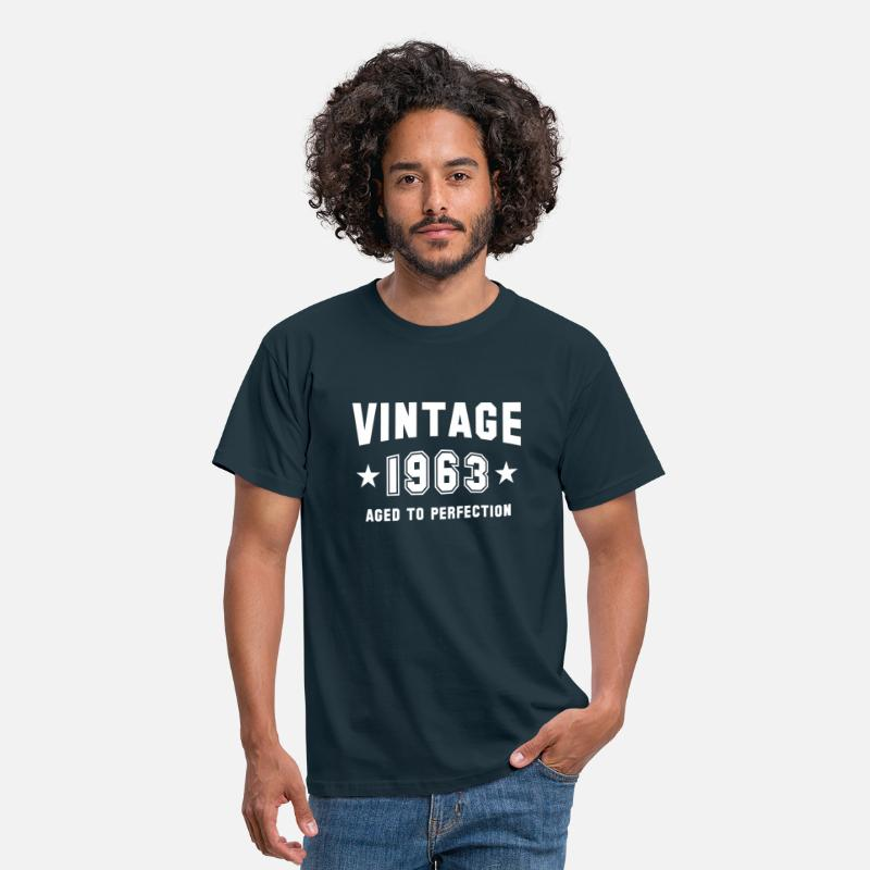 Mature T-Shirts - VINTAGE 1963 - Birthday - Aged To Perfection - Men's T-Shirt navy