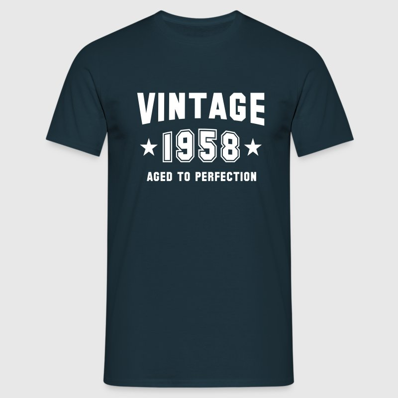 VINTAGE 1958 - Birthday - Aged To Perfection - Men's T-Shirt