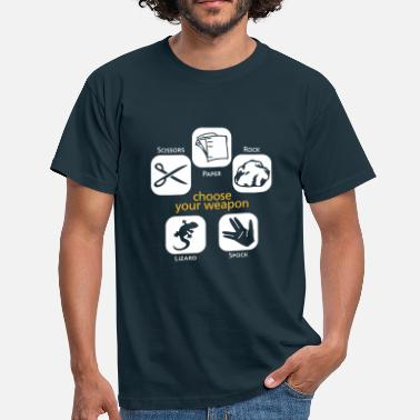 Schere Stein Papier Echse Spock Choose your weapon - Männer T-Shirt