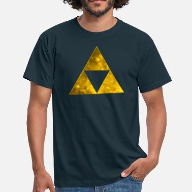 Psychedelisch Space Triangle, Mathematics, Universe, Triforce,  - Männer T-Shirt